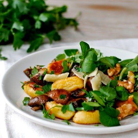 In de keuken: Gnocchi met ricotta en gebakken paddestoelen
