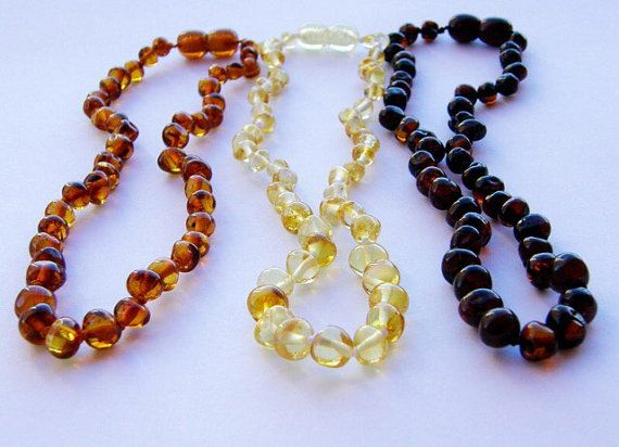Modern Mom - Amber Teething Necklace