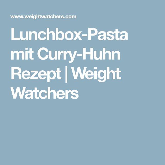 Lunchbox-Pasta mit Curry-Huhn Rezept | Weight Watchers