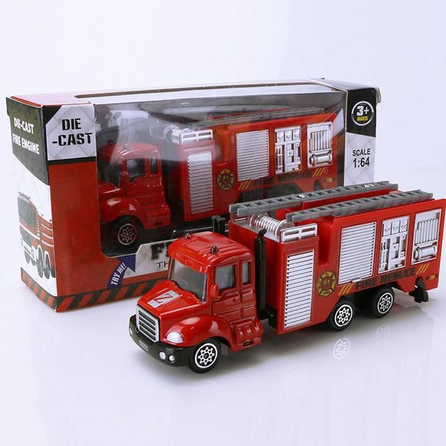 1: 64 Red Alloy Car Truck Simulation Vehicle Model Kids Learning Toys Gift