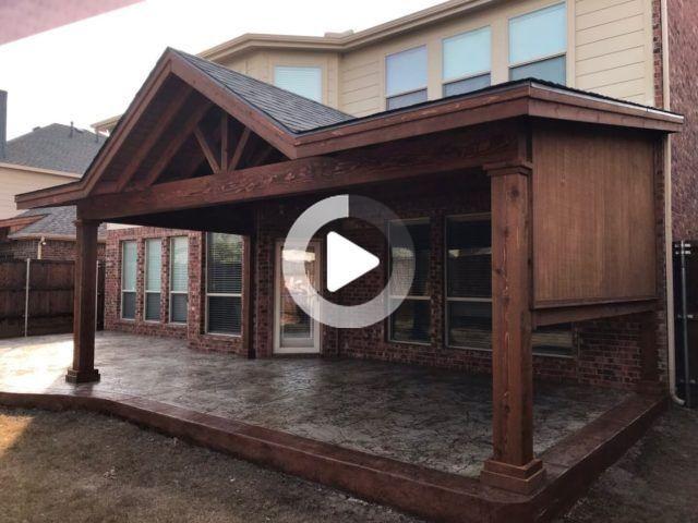 Remise Avec Galerie De Couvertures De Patio Gable Couvertures De Terrasse Impermeables De La Plus In 2020 Terrasse Dallas Schuppen