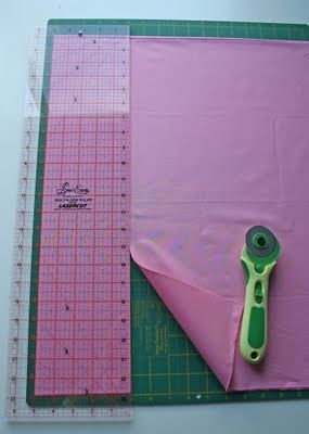Cutting fabric tutorial.