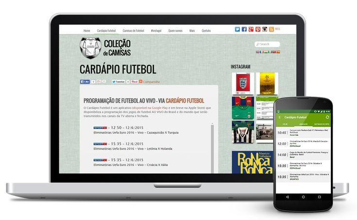 Cardápio Futebol: programação das partidas ao vivo todo dia  - http://www.colecaodecamisas.com/cardapio-futebol-programacao-ao-vivo-na-tv/ #colecaodecamisas #Android, #Aplicativo, #Cardápiofutebol, #Programação