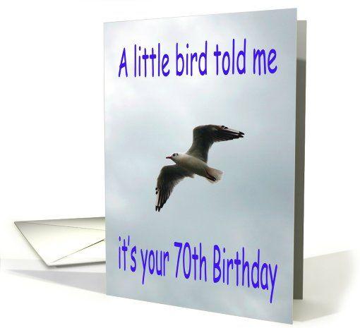 Happy #70th #Birthday Flying #Seagull #bird Greeting Card: Birds Cards, Flying Seagull, Seagull Birds, Bird Cards, Birthday Cards, Cards Universe, Cards Bday, Greeting Cards, Birthday Flying