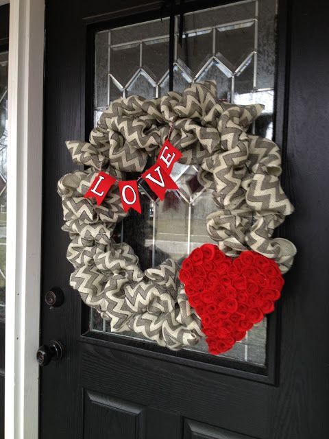 A Valentine's wreath.