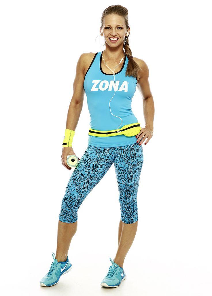 Zsírégető Zóna edzés programok DVD és letölthető formában. Edző- és futóruházat Péntek Enikő tervezésében. - Türkiz ZONA trikó