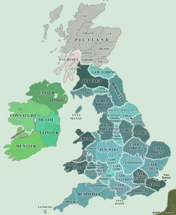 Britain map celtic tribes