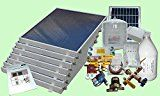 Complete 7 Panel GH Type Freeze Protected Hybrid Solar Water Heater Kit