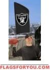 "Raiders Tailgate Flag 42"" x 20"""
