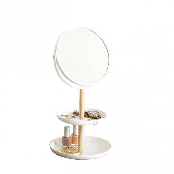 Vide poche pour bijoux avec miroir rangement salle de bain pinterest vide poche vide et - Vide poche mural salle de bain ...