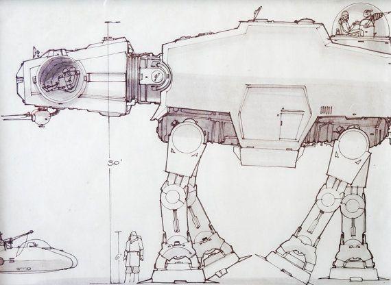 14 best star wars blueprints large frames images on pinterest star wars blueprint of an at at taken from the star wars blueprint book cut unusual artlarge malvernweather Images