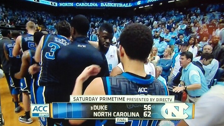 I think Stuart Scott hijacked the editing room and tabulated this score!  ESPN couldn't even will UNC to a win over the Duke on senior day.  Can't blame them for trying... GO DEVILS!