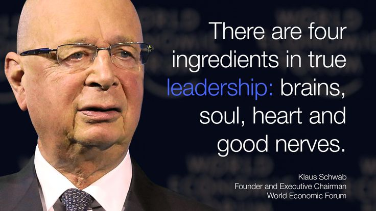 """#There are four ingredients in true #leadership: brains, soul, heart and good nerves."""" - Klaus Schwab in #Davos at #wef15"""