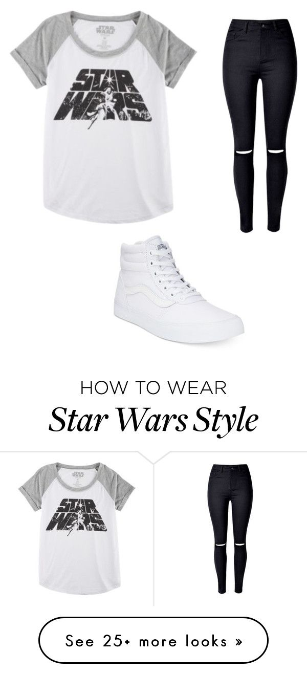 """Star Wars"" by medina-berenice on Polyvore featuring Hybrid, WithChic and Vans"
