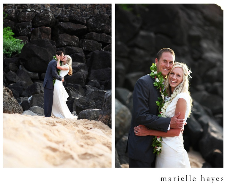 Stunning wedding photos from Marielle Hayes, including several at the LDS Laie, Hawaii temple.