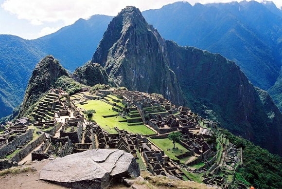 """Machu Picchu, Peru is a mysterious site of an ancient Inca city. It is located at 2,430 metres (8,000 ft),  and is often referred to as """"The Lost City of the Incas"""", is one of the most familiar symbols of the Incan Empire.Machu Picchu is a UNESCO World Heritage site. It is also the end point of the most popular hike in South America, the Inca Trail."""