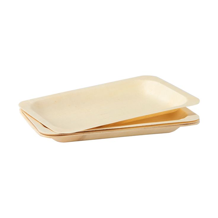 Wooden Plates - Pack of 12   Kmart