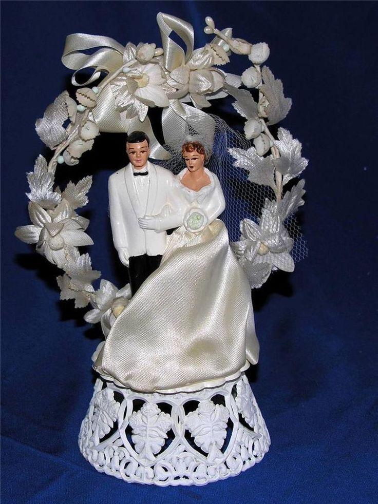 Retro Wedding Cake Topper