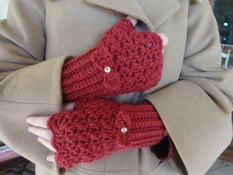 Εύκολα γάντια.... με βελονάκι! - YouTube