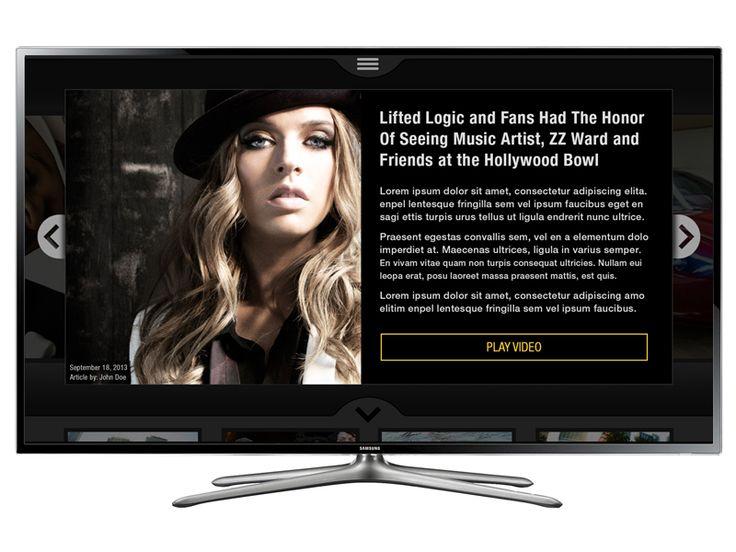 Smart Tv App Details page by Samü