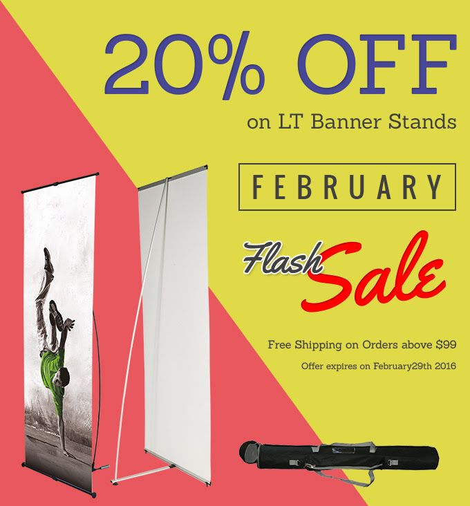 Get LT Banner Stands for Your Marketing Campaigns & Dominate Any Field! High Quality Banner Stands That Are Ideal for all Tradeshow Settings. Use Coupon:LTBANNER Exp:29 Feb,2016