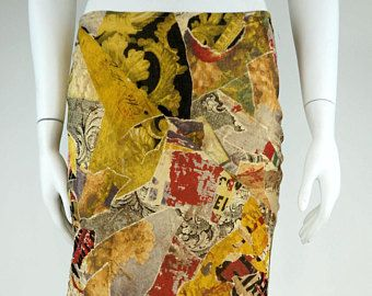 moschino Jeans vintage music skirt size Medium asymmetric -    Edit Listing  - Etsy