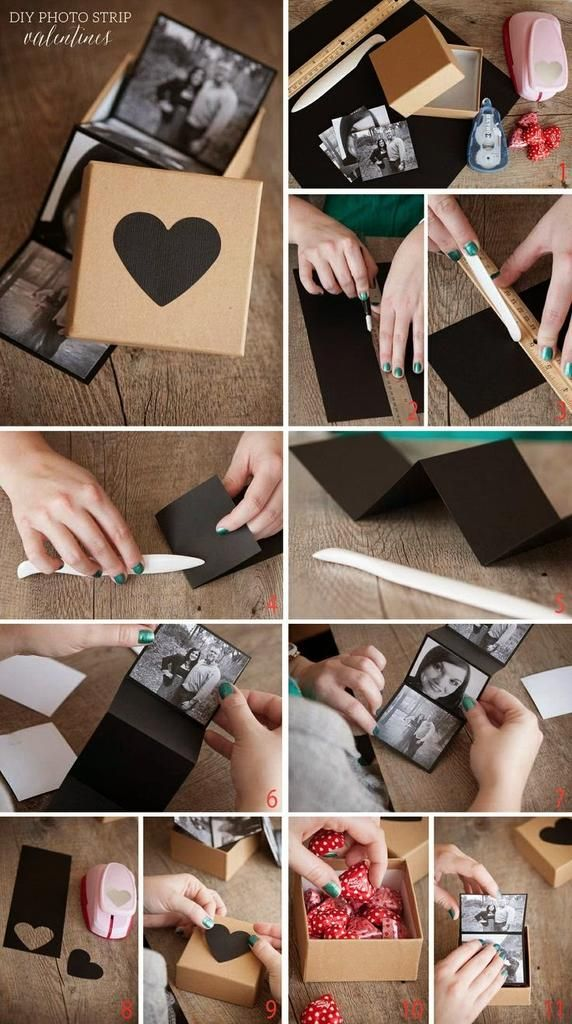 Homemade Photo gift box
