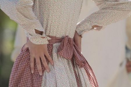 gingham pioneer apron and dress