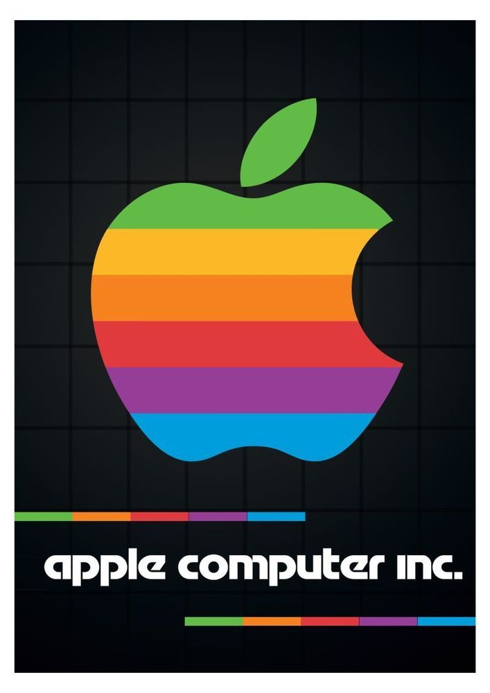 Apple Computers Poster Vintage Retro Silicon Valley 24 Inch By 36 Inch B Poster Vintage Retro Apple Computer Apple Logo Wallpaper
