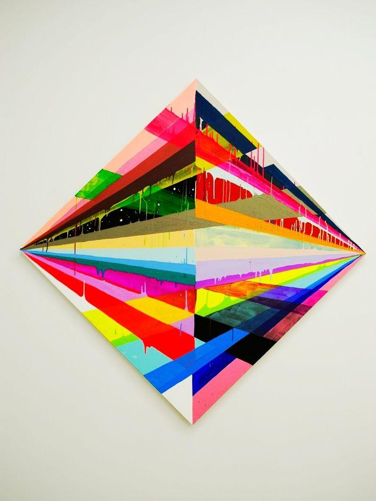 Maya Hayuk (American, b. 1969, Baltimore, MD, USA) - Bonfire (X), 2012  Paintings: Acrylics on Canvas over Panel