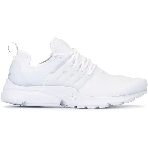 Nike Air Presto sneakers ($200) ❤ liked on Polyvore featuring shoes, sneakers, nike, white, white sneakers, nike shoes, nike trainers and nike sneakers
