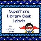These are library book labels that you can put on your book bins for your classroom library. They are all superhero themed. There are genre, holiday, and chapter book labels. Color and Black and White