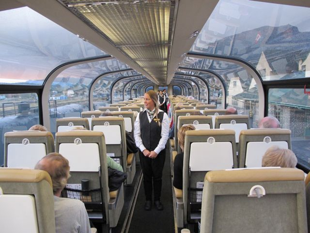 Rocky Mountaineer train out of Vancouver.