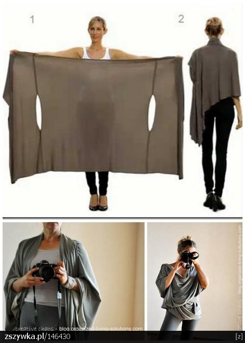 Właściwie to można zrobić z wielkiego swetra, albo poprostu odciąć rękawy ;]