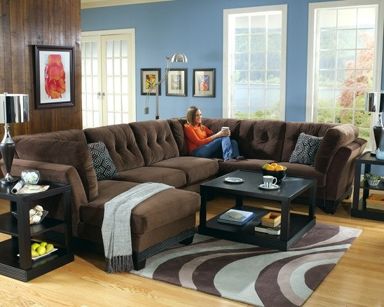 Sectional Couch With Chaise Brown Is Perfect To Prevent Stains