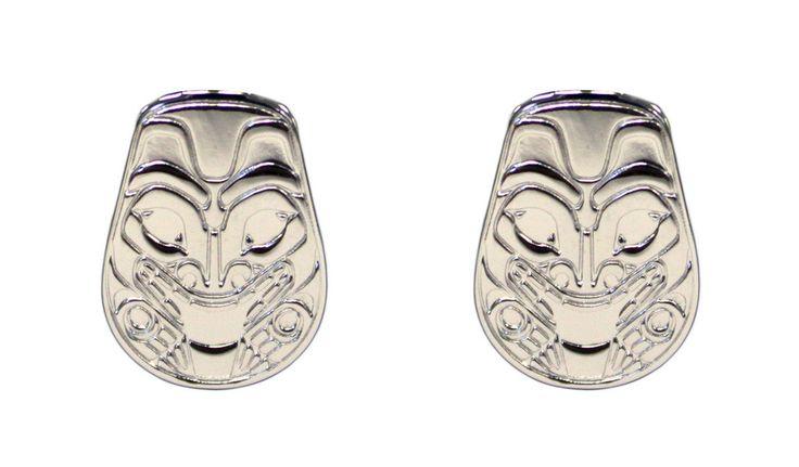 Silver Earrings - Bear by Corey Moraes
