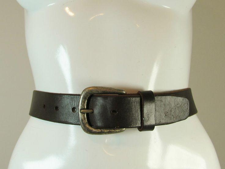 """Next vintage retro look dark brown leather belt size S 24""""-26"""" R11919"""