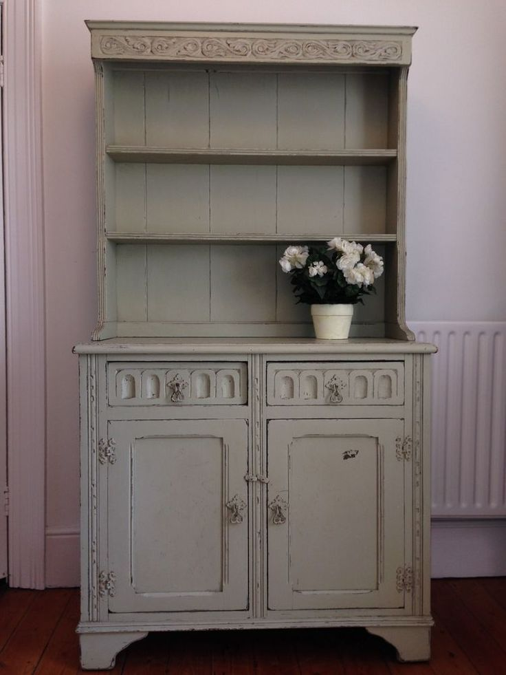 Beautiful Shabby Chic Wooden Dresser, Kitchen Sideboard, Cupboard