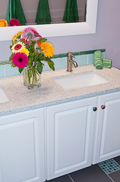 Another Bathroom Recycled Glass Countertop From Absolute Tile U0026 Stone...  Http:/