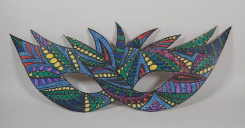 Bunte Masken | Bastelfrau