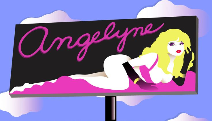 Angelyne || Designed by Nefeli Tsalta || #angelyne #kissmela #la #hollywood #pink #sunsetstrip #corvette #pinkcorvette #billboard #reneetamigoldberg #1980s #80s #1990s #90s #reneegoldberg #california #1970s #fashion #glam #bombshell #neon #popart #80sglam #culticon #popicon #model #actress #singer #70sglam #70s #vintage #retro #illustration #minimal #gif #colors #digitalillustration #minimalillustration #graphicdesign #illustrator #design
