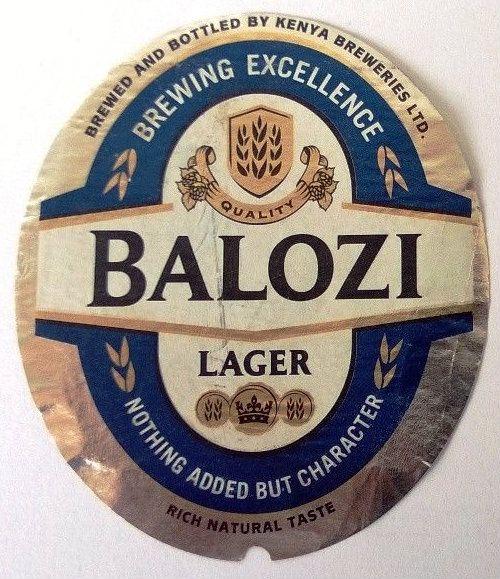 Balozi Lager Beer Label Kenya