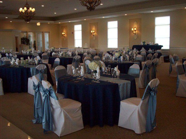 Taffeta Blue Wedding Tablecloths