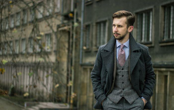 Tweed Suit, Vest + Wool Tie