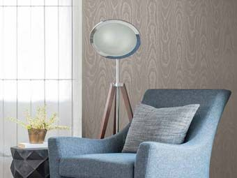 Elan, Moire: Colourful, water-effect wallcoverings.