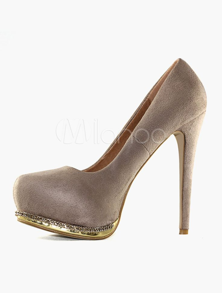 Scarpe di Camoscio con tacci alti per Donna
