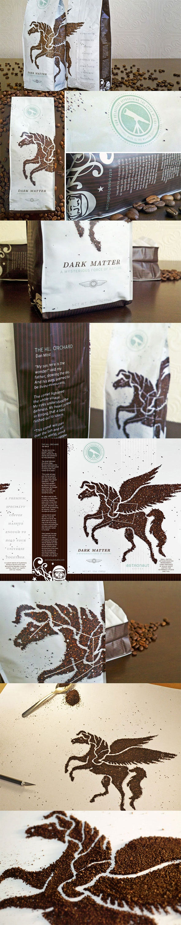 Dark Matter Coffee  --The Dieline--
