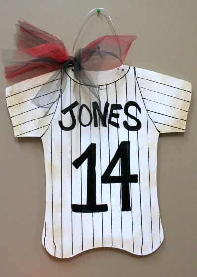 Baseball Jersey Wall Hanging                                                                                                                                                                                 More