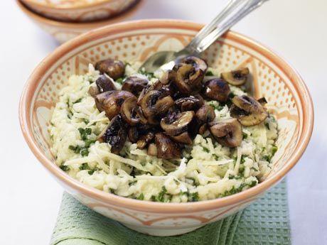 Risotto med grönkål och skogschampinjoner Receptbild - Allt om Mat