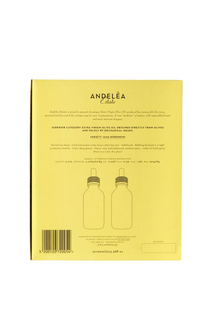 Premium Packaging - Andelea Estate Premium Extra Virgin Olive Oil